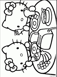 kitty happy easter coloring pages getcoloringpages