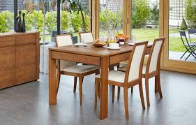 Olten Extending Dining Table With Drawer In Oak Finish VDCC - Kitchen table with drawer