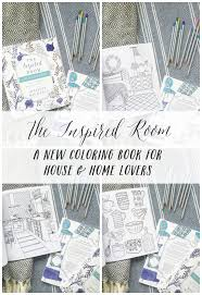 24 best home decor coloring book images on pinterest coloring