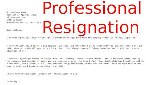 formal letter of resignation how to write a resign letter how to