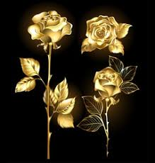 Golden Roses Golden Rose Royalty Free Vector Image Vectorstock