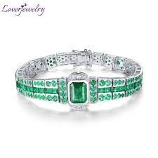 emerald diamond gold bracelet images Loverjewelry luxury design solid 18k white gold emerald bracelet jpg