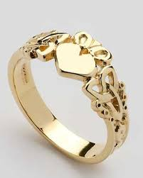 mens gold ring gold claddagh ring mg clad37