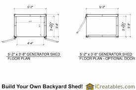 shed floor plan 5x4 generator enclosure plans 5x4 generator shed plans