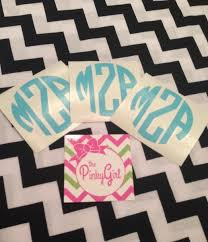 monogram stickers monogram decals vinyl initial stickers the pinkygirl