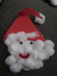 toddler approved cotton ball santa