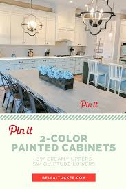 Paint Finishes For Kitchen Cabinets by Kitchen Cabinets Two Different Paint Colors Bella Tucker