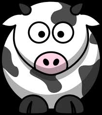 cartoon drawing of a cow drawing art library