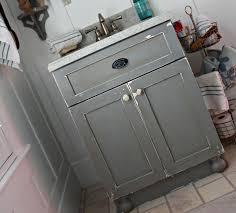 Repainting Bathroom Vanity Diy Chippy Painted Bathroom Vanity Robb Restyle