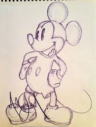 lot detail michael jackson original signed drawing of mickey mouse