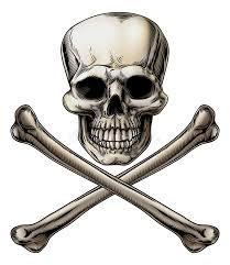 jolly roger skull and crossbones sign stock vector illustration of