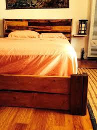 Platform Bed With Floating Nightstands Headboard Enchanting Headboard Nightstand Attached Headboard