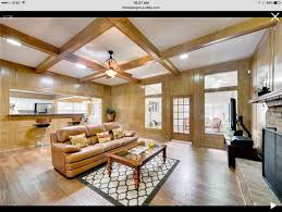 painted wood paneling and wall color