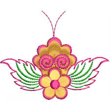 creative butterfly embroidery design