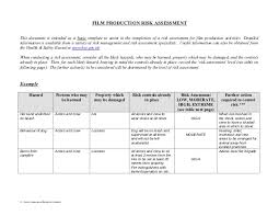 manufacturing risk assessment template https image slidesharecdn filmproductionrisk