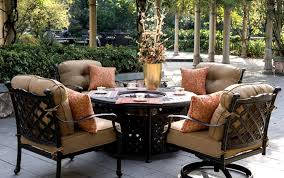 patio furniture with fire pit table awesome garden furniture with fire pit table