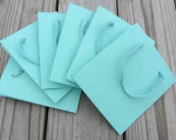 blue gift bags 10 pack 5 5 x 3 5 x 6 turquoise gift favor bags heavy weight paper
