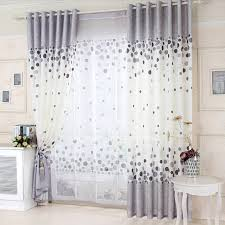 White And Grey Curtains Elegant Cotton White And Gray Kids Curtain With Polka Dot Pattern