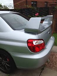 wrx subaru 2007 subaru impreza wrx sti version 7 8 9 abs rear boot spoiler 01 07