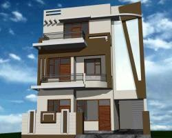 Simple House Front View Design