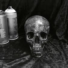 black and white skull ornament glitter skull home decor to buy