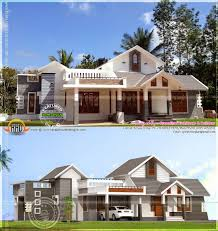 house after completion with its 3d design kerala home style single