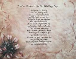 Bridal Shower Gift Poems Gift For Daughter For Her Wedding Day Poem Gift From Mom And Dad