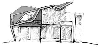 simple drawing of a house pencil sketch unusual 14 vitrines
