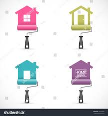 set house renovation icons paint rollers stock vector 397348348 set of house renovation icons with paint rollers painting services icons easy to change