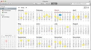 how to show holidays in the calendar app for mac os x