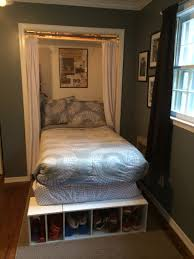 small bedroom try putting the bed inside the closet and use