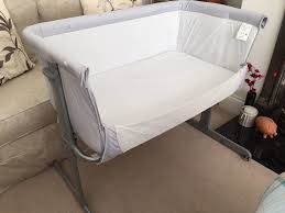 Bed Side Cribs by Chicco Next 2 Me Bed Side Crib Bassinet Grey Silver Colour In