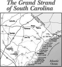 map of sc sc grand strand guide to myrtle south carolina grand strand