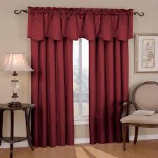 eclipse canova blackout burgundy polyester curtain valance 21 in