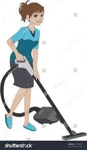 woman vacuuming floor stock vector 183378032 shutterstock