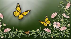 vines persona yellow green firefox peach away fly shine flowers