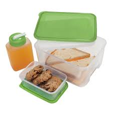 oggi chill to go food container with drink bottle and removable