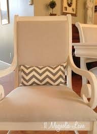 white chalk painted dining room table u0026 monogrammed chairs 11