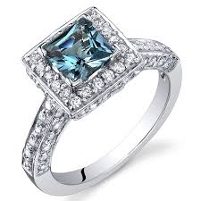 blue topaz engagement rings london blue topaz princess halo ring sterling silver