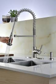 compare kitchen faucets tuscany volk one handle pull coil kitchen faucet at menards