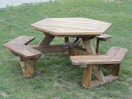 back to post hexagon picnic table plans as comfort table chainimage