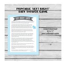 left right story game for baby shower image collections baby
