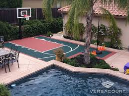 Basketball Court In Backyard Cost by Versacourt Backyard Basketball Court Photos U0026 Ideas