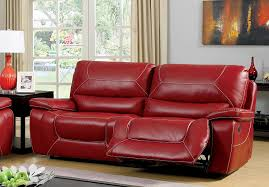 Red Sofa Furniture Amazon Com Furniture Of America Dunham 2 Recliner Sofa Red
