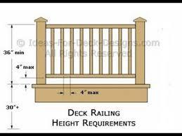 Deck Stair Handrail Height Deck Stair Railing Specs Deck Stair Railing Specs Youtube
