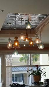 Kitchen Light Fixtures by Susie Harris Replacing Fluorescent Lighting Fantastic Idea For