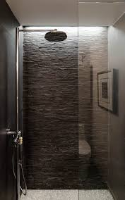 houston stacked stone tile bathroom contemporary with slate
