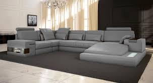 couch u form ledersofa grau wohnlandschaft leder sofa couch u form ecksofa