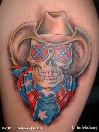 colorful skull cowboy tattoo design tattoos book 65 000