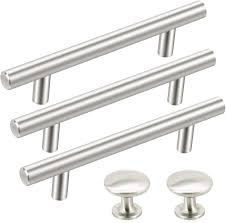 white kitchen cabinets what color hardware 36 pack kitchen cabinet handles sunriver 26 pack cabinet pulls brushed satin nickel 10 pack cabinet door knobs 3 3 4 center stainless steel